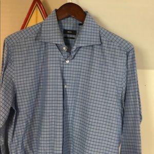 Hugo Boss blue dress shirt size 16.5 34/35
